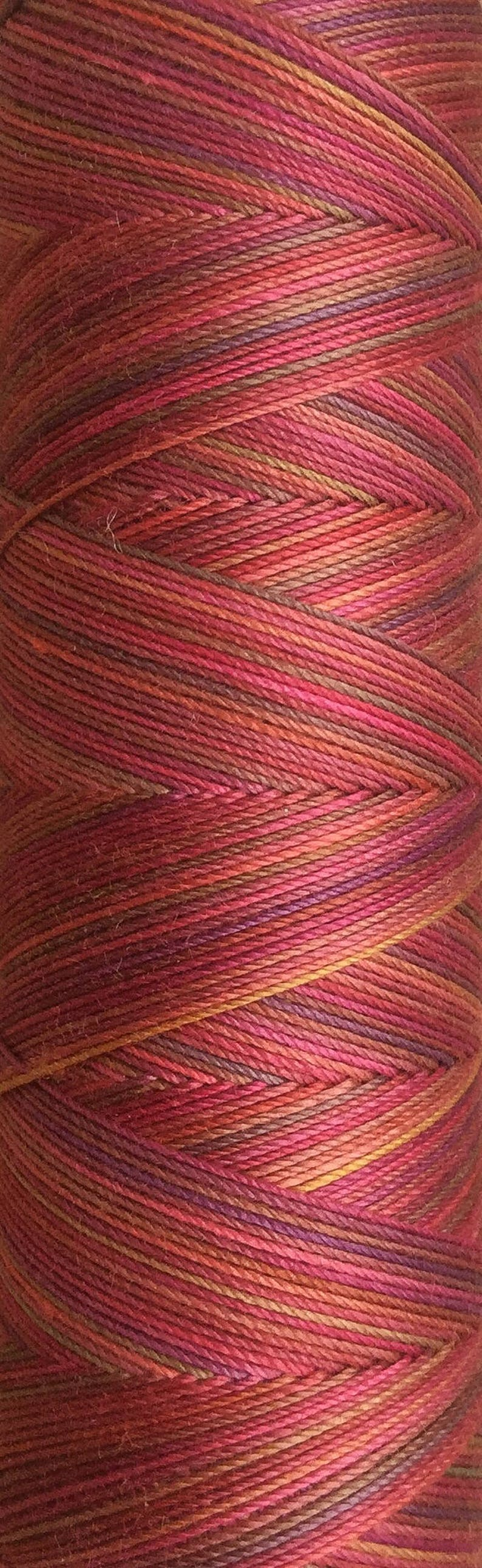 No.02 Antique Red Hand Dyed Cotton Machine Thread Individual image 0