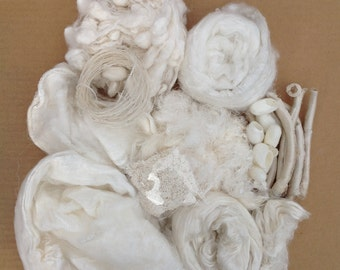 Pick and Mix, Silk Fibre Selection, Silk Tops, Laps, Throwsters Waste, Cut and Degummed Cocoons, Hankies, Caps, Silk String, Silk Neps