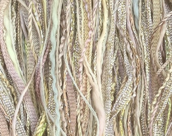 Oatmeal, One Off Special, Limited Edition, Hand Dyed Embroidery Thread, Textured Threads, Variegated Threads