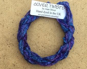 Silk Chenille No.81 Bluebell, Hand Dyed Embroidery Thread, Artisan Thread, Textured Silk Thread