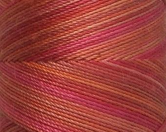 No.13 Sunset, Hand Dyed Cotton Machine Thread, Individual Spool 150m, Machine Embroidery, machine Quilting
