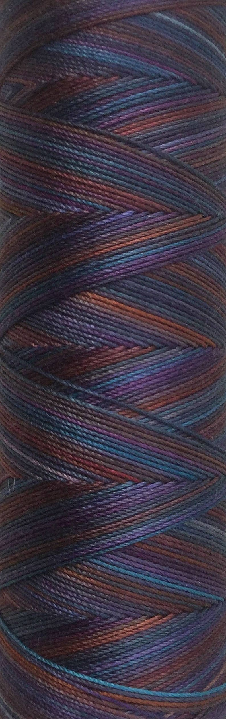 No.19 Black Cherry Hand Dyed Cotton Machine Thread image 0