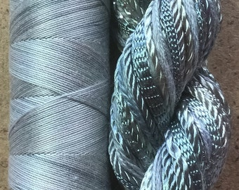 Hand Dyed Embroidery Thread, Two of a Kind, No.56 Pebble, Hand Dyed Machine Cotton, Hand Dyed Quilting Thread, Variegated Thread