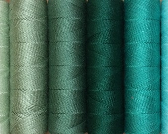 FINE COTTON, 50m spool (55yds), Embroidery Thread, Flat Dyed Colours, Cotton Thread, 16/2 wt. (Equivalent to Perle 12)
