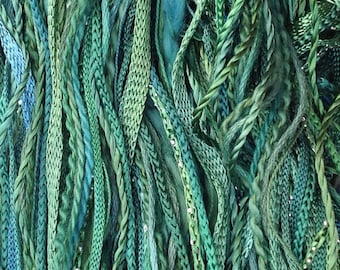 Hand Dyed Cotton and Viscose Thread Selection, One Off, No.55, Holly, Creative Threads, Embroidery Threads, Quilting Threads