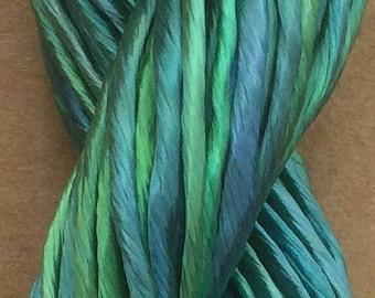 Thick Rayon Floss, Viscose Floss, 9 Strand Viscose Floss, Embroidery Thread, Braidmaking, Kumihimo, No.20 Jade