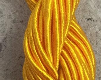 Viscose Gimp Thread, Daffodil, Hand Dyed, Rayon Gimp, 10 metres