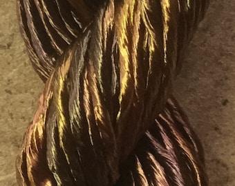 Thick Rayon Floss, Viscose Floss, 9 Strand Viscose Floss, Embroidery Thread, Braidmaking, Kumihimo, Colour No.01 Chocolate
