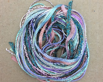 Tidbits, Sherbert Fountain, Hand Dyed Embroidery Threads, Creative Embrodery