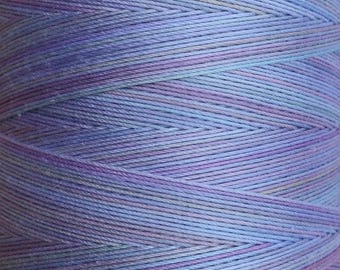 Hand Dyed Cotton Machine Quilting Thread, Machine Embroidery Thread,  Eygyptian Cotton 40wt. 750m (820yds) No.80 Sky Blue Pink