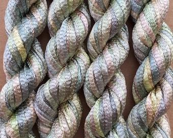 Hand Dyed Viscose Ribbon, 10/167 Viscose Ribbon, Rayon Ribbon, Embroidery, Thread,Canvaswork, Needlepoint, Colour No.22 Silver Birch