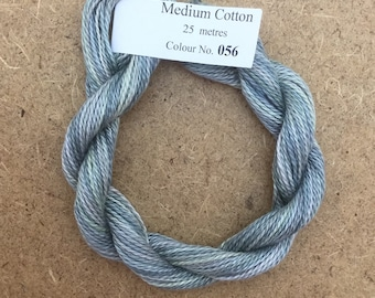 No.56 Pebble, MEDIUM COTTON, Hand Dyed Embroidery Thread, 6/2 wt. (Equivalent to Perle 8)