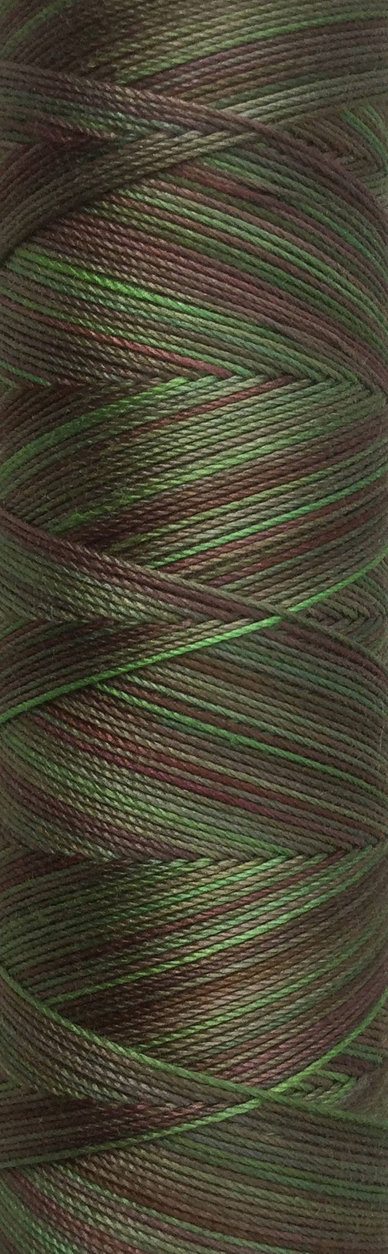 No.54 Moss Hand Dyed Cotton Machine Thread Individual Spool image 0