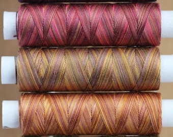 Autumn Leaves, Hand Dyed Egyptian Cotton Machine Thread