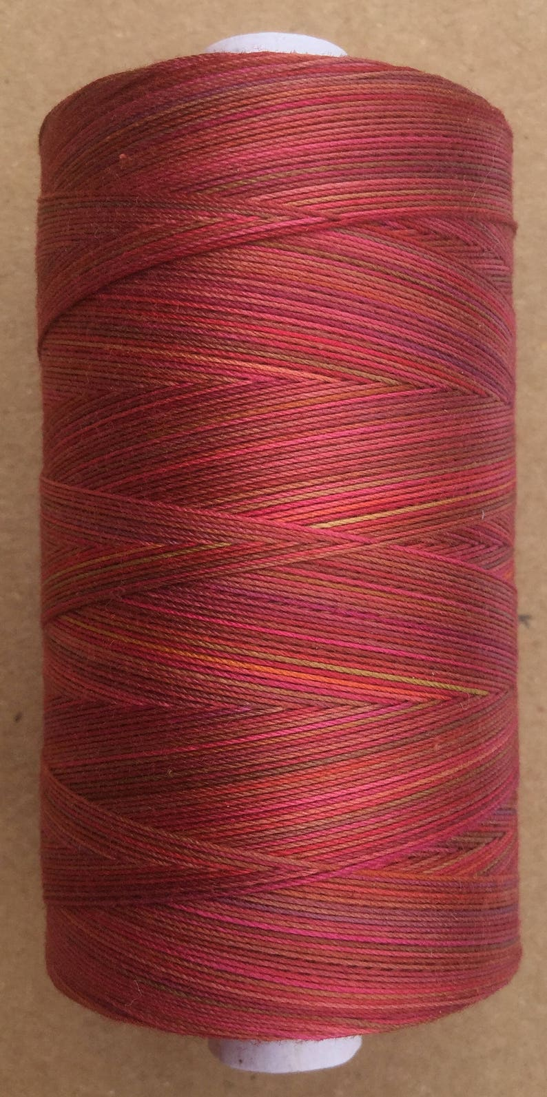 Hand Dyed Cotton Machine Quilting Thread Colour No.02 Antique Red 820yds Machine Embroidery Thread 750m Eygyptian Cotton 40 weight