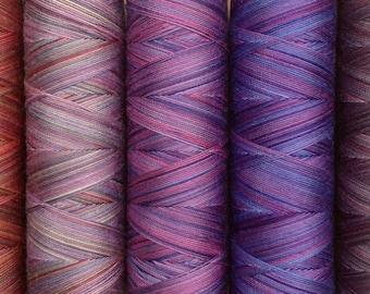 Scottish Heather, Hand Dyed Egyptian Cotton Machine Thread