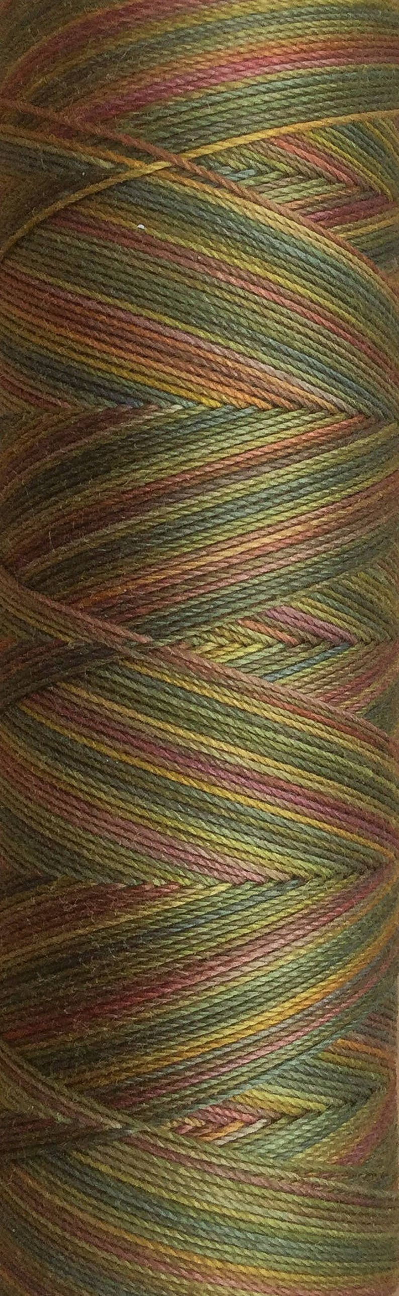 No.15 Sludgy Green Hand Dyed Cotton Machine Thread image 0