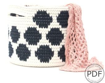 Crochet Basket with Polka Dots - Crochet Pattern