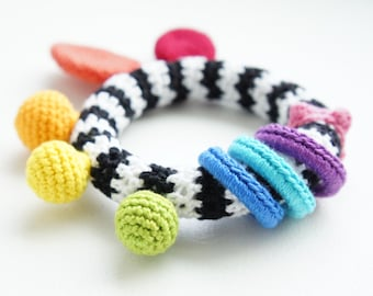 High Contrast Teether - Baby Toy Crochet Pattern