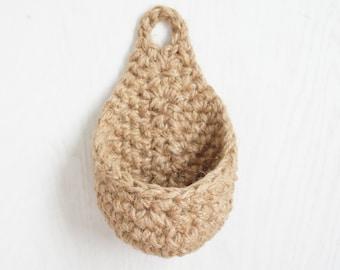 Teardrop Hanging Basket Crochet Pattern - Raindrop Crochet Basket