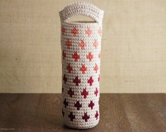 Crochet Pattern for Ombre Wine Bottle Gift Bag