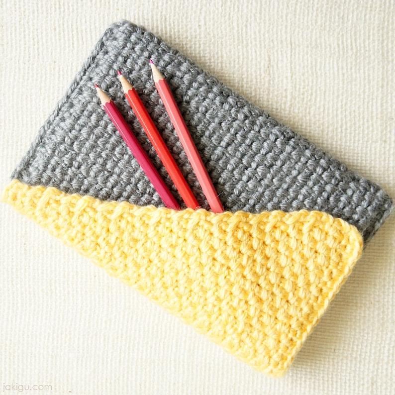 Crochet Clutch with Geometric Color Block Bias Flap PDF Crochet Pattern