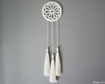 Small Crochet Dream Catcher - Dreamcatcher Crochet Pattern