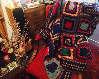 Hand made crochet blanket (large)