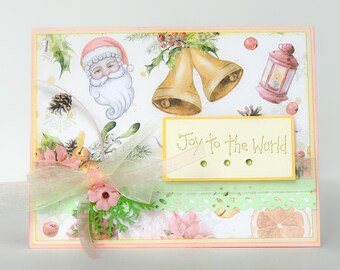 Handmade Christmas Card Holiday Card Vintage Style Christmas Etsy