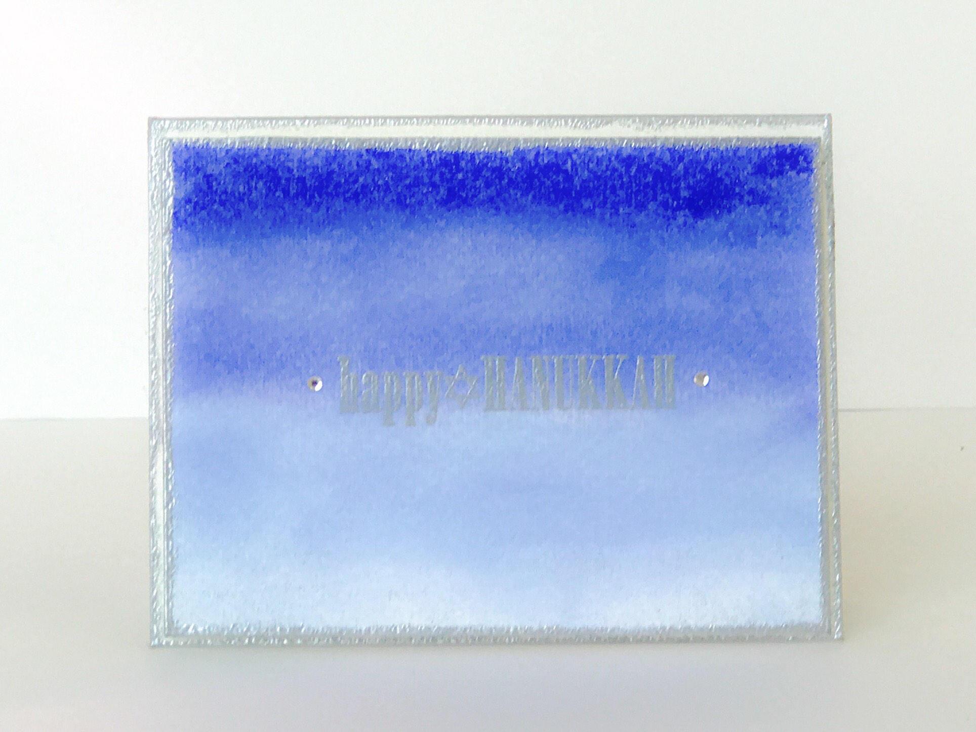 Handmade Hanukkah Card Happy Hanukkah Card Blue And Silver Etsy