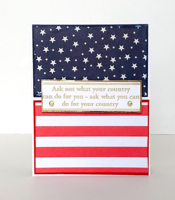 Handmade Card American Flag Veterans Day Card United States Etsy