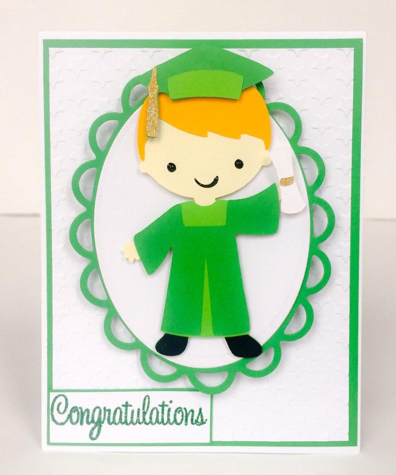 Escuela de tarjeta personalizada graduación graduación hecha  8cd5b17ee23ce