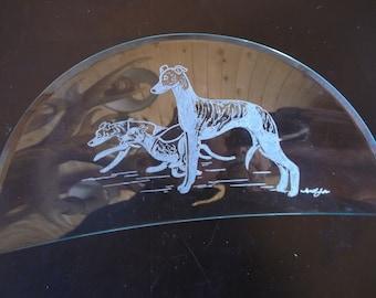 Beautifully hand engraved Wood Box by Ingrid Jonsson. Petit Basset Griffon Vendeen