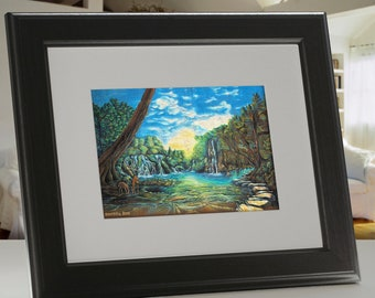 "Undiscovered Paradise Framed 5"" x 7""  Print"