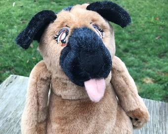 Shepherd Dog Stylized Anthro Cartoon Furry Plush Stuffed Animal Toy