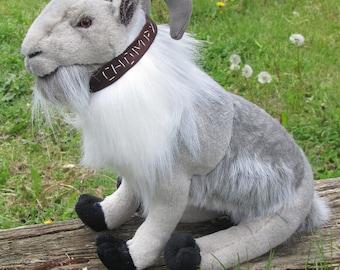 Handmade Plush Stuffed Animal Toy Goat Pet Portrait Chompy