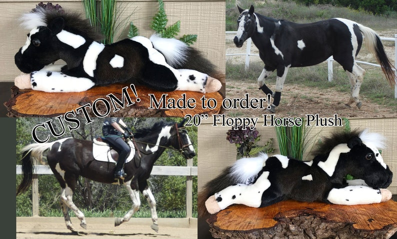 CUSTOM MADE to ORDER 20in Floppy Horse Plush Toy Stuffed image 0
