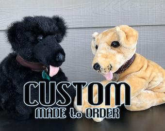 CUSTOM MADE to ORDER 20in Floppy Dog Plush Toy Stuffed Animal Commission Handmade