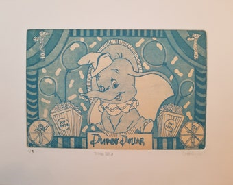 Dumbo Intaglio Print
