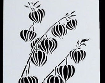 Flower Pod Stencil - Fairy Flowers - 9x4.75 inches
