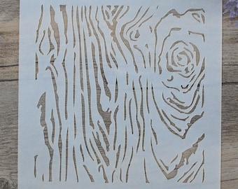 5x5 Wood Grain Stencil