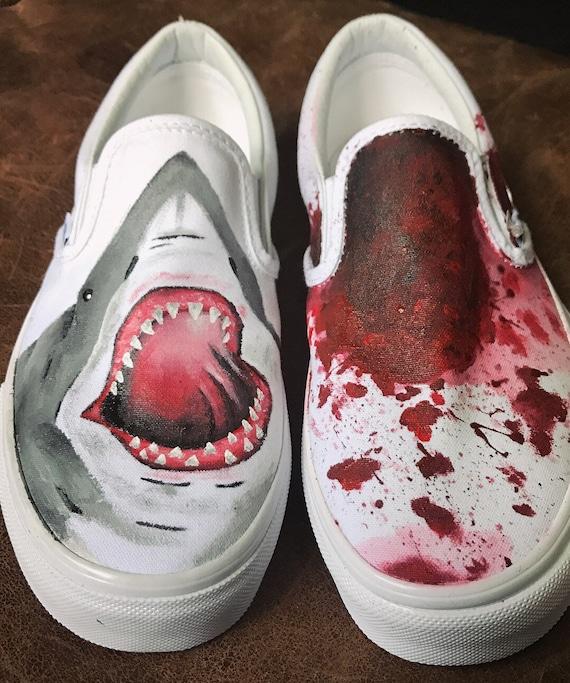 Custom Nautical jaws shark blood