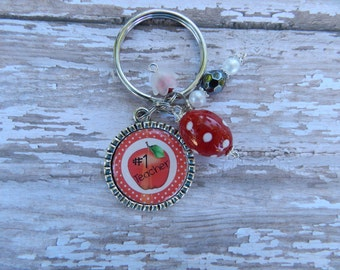 Teacher Bottlecap Key Chain