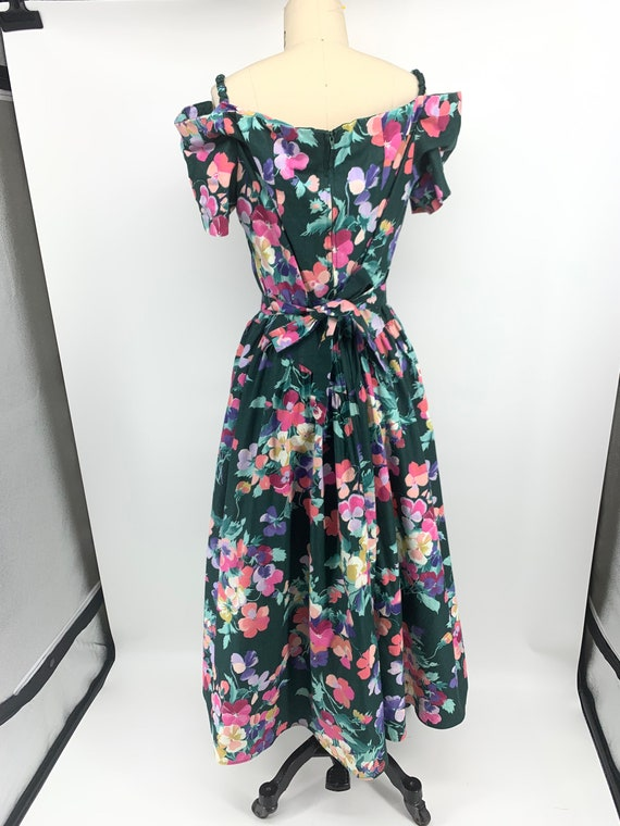 Lovely vintage 1980s floral dress - image 3