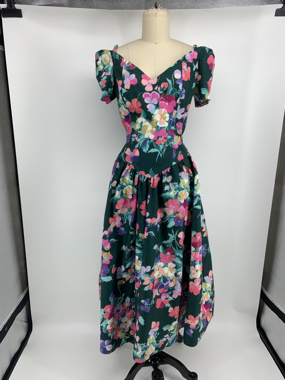 Lovely vintage 1980s floral dress - image 4