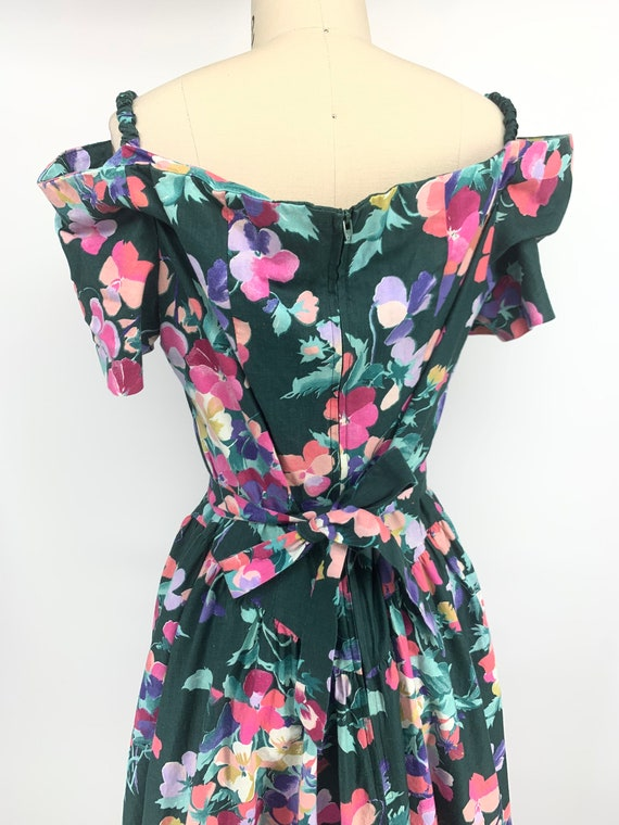 Lovely vintage 1980s floral dress - image 2