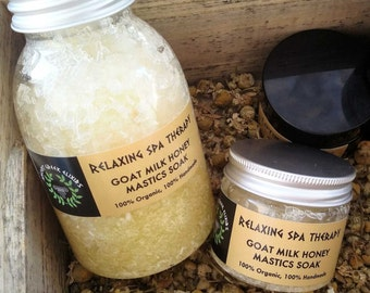 REPAIR SPA SCRUB and bath salts, mastic & bath salts, bath soakmastic, Spa treatment, Greek Exclusive, wedding spa, bridal spa 200ml