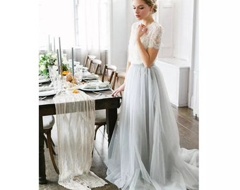 601a4bcdd7a3 Calliste Bride wedding skirt, tulle dress, romantic wedding skirt, tulle  maxi skirt, romantic skirt