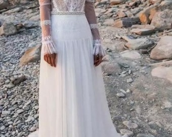 Damen Sommer Chiffon Zigeuner Bodenlang Strand Boho Hochzeit Rock Strandkleid
