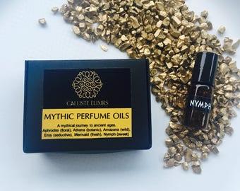 4 BOTANICAL PERFUME SAMPLES, perfume oil samples, vegan free sample Mythical perfume, perfumes, organic perfume